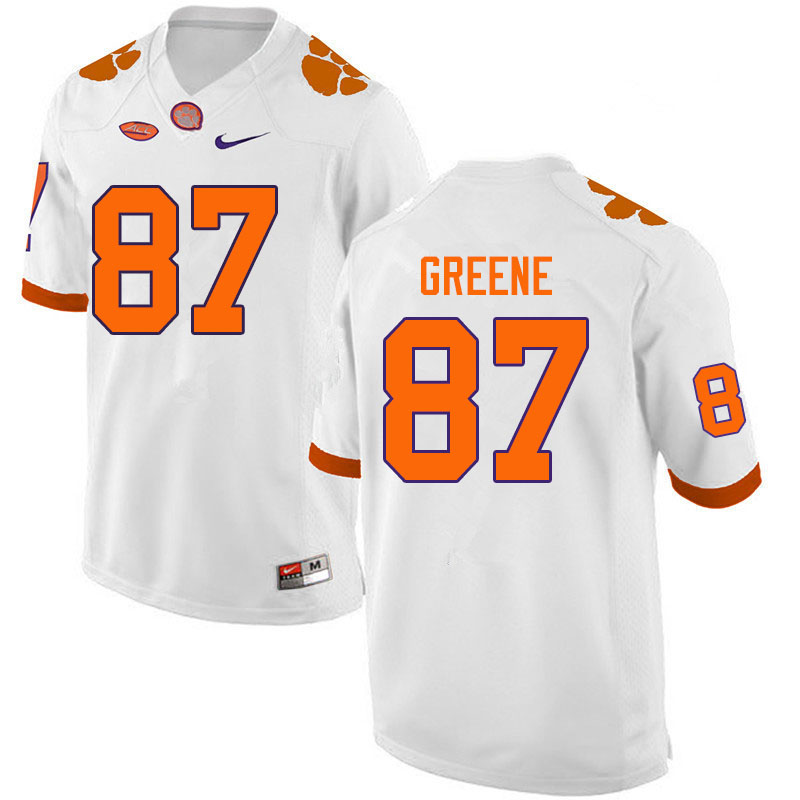 Men #87 Hamp Greene Clemson Tigers College Football Jerseys Sale-White